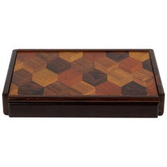 Don Shoemaker Jewelry or Trinket Box with Trompe L'oeil Inlay