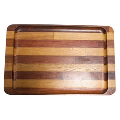 Don Shoemaker Mexican Modernist Striped Cocobolo Service Tray, Mexico