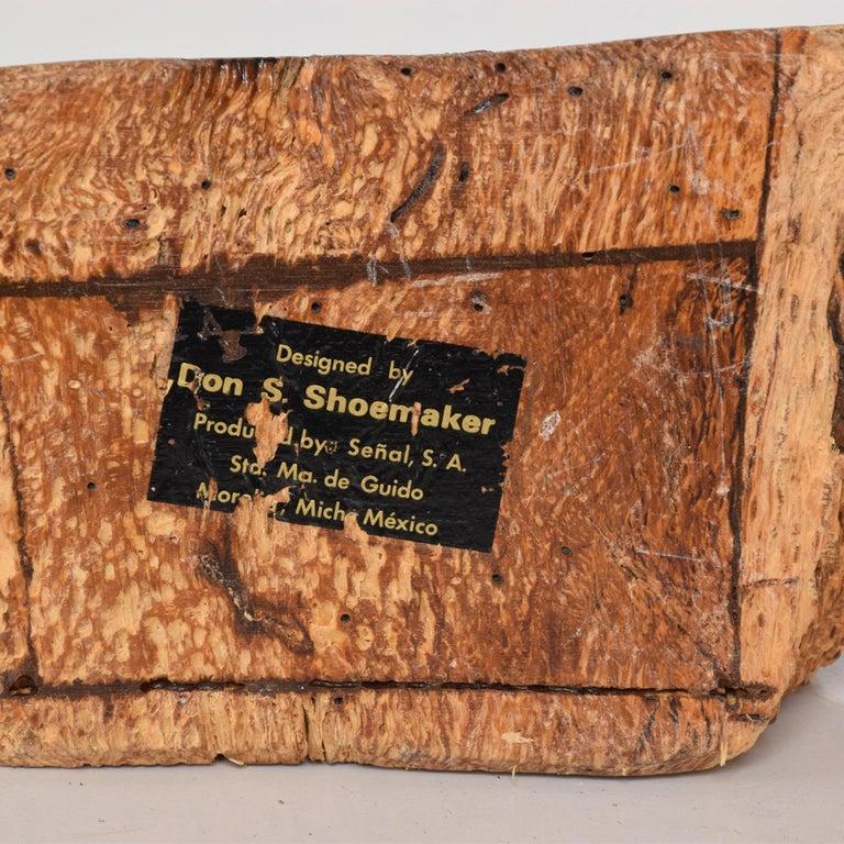 Don Shoemaker Organic Modern Handsome Exotic Wood Stash Box Carved Cocobolo 1970 For Sale 6