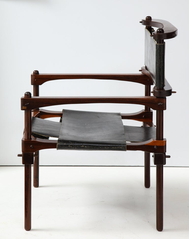 Don Shoemaker Perno Safari Chair In Good Condition For Sale In New York, NY