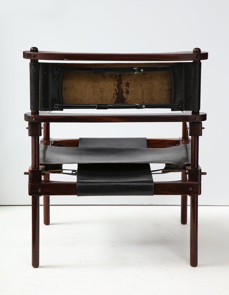 Leather Don Shoemaker Perno Safari Chair For Sale