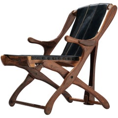 Don Shoemaker 'Sling' Chair in Rosewood and Leather