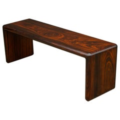 Don Shoemaker Solid Brazilian Rosewood Table / Bench 1970s Studio Craft Mexico