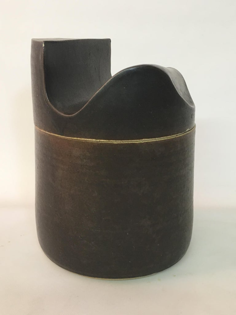 Mid-Century Modern Don Williams American Studio Pottery Covered Jar For Sale