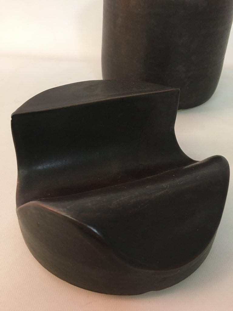 Late 20th Century Don Williams American Studio Pottery Covered Jar For Sale