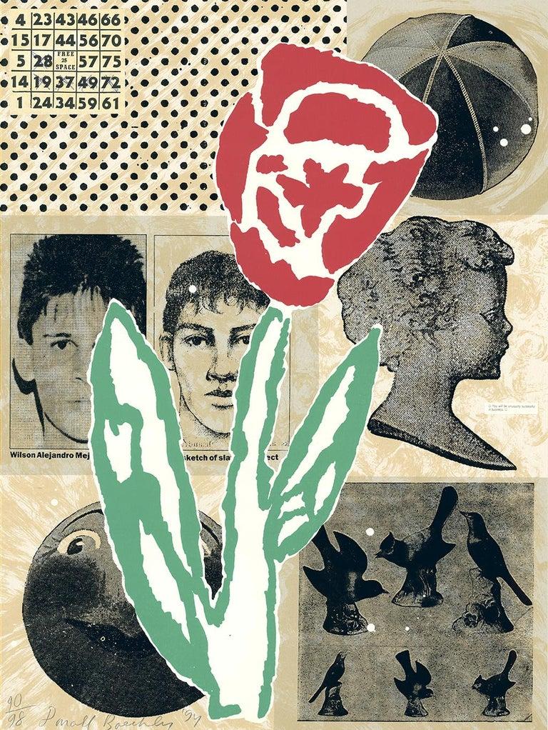 Flower - Donald Baechler - Unique piece - Edition: 98 - Mixed Media Art by Donald Baechler