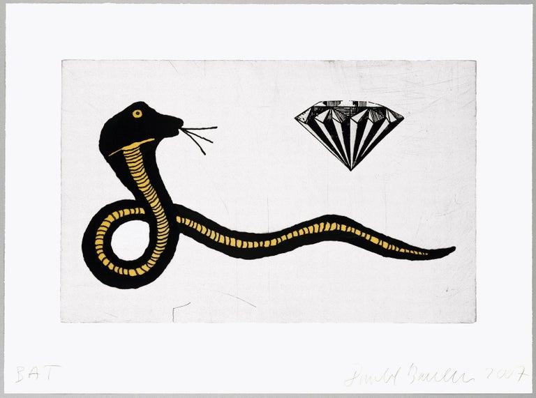 Diamond Snake by Donald Baechler  For Sale 1