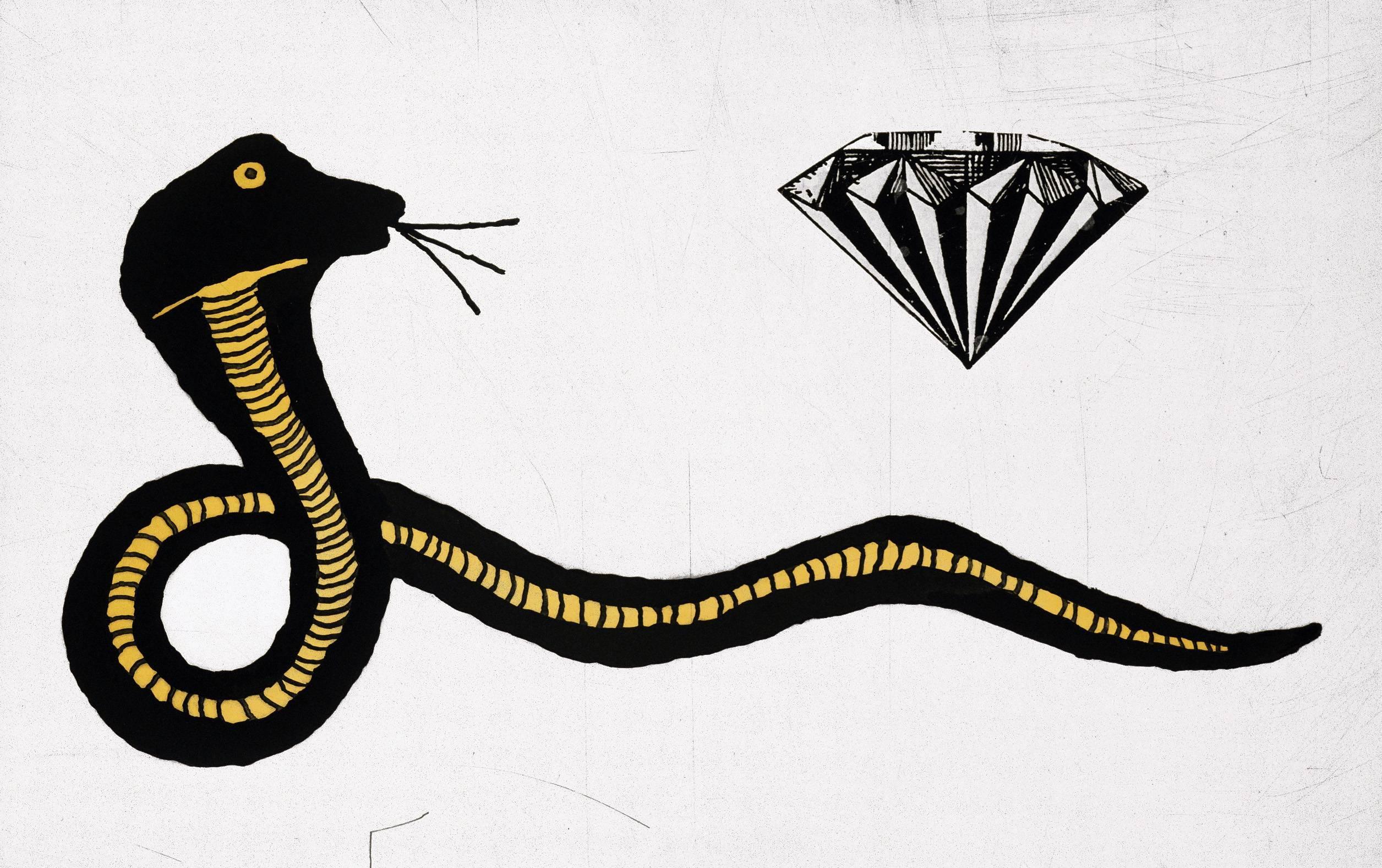 Donald Baechler Diamond Snake (Donald Baechler prints)