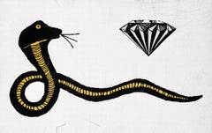 Donald Baechler Diamond Snake (Donald Baechler prints)