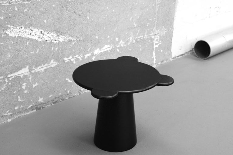 Italian Contemporary Coffee Table Black Donald Wood by Chapel Petrassi For Sale