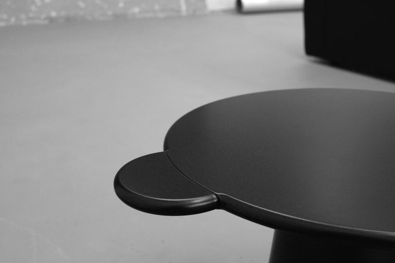 Contemporary Coffee Table Black Donald Wood by Chapel Petrassi In New Condition For Sale In Le Perreux-sur-Marne, FR