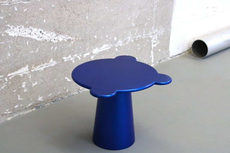 Italian Chapel Petrassi Contemporary Coffee Table Blue Donald Lacquered Wood For Sale