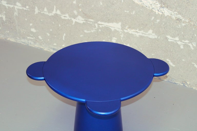 Chapel Petrassi Contemporary Coffee Table Blue Donald Lacquered Wood In New Condition For Sale In Le Perreux-sur-Marne, FR