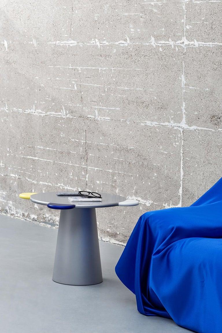 Italian Donald Blue Monochrome Coffee Table For Sale