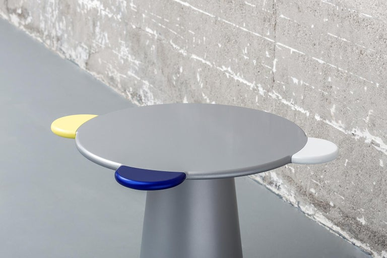 Lacquered Donald Blue Monochrome Coffee Table For Sale