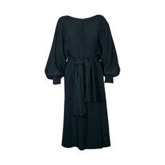 Donald Brooks Black Crepe Dress