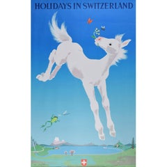 Travel Poster: Donald Brun Holidays in Switzerland 1949 Zurich
