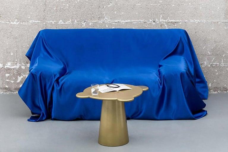 Italian Donald Coffee Table Monochrome Gold For Sale