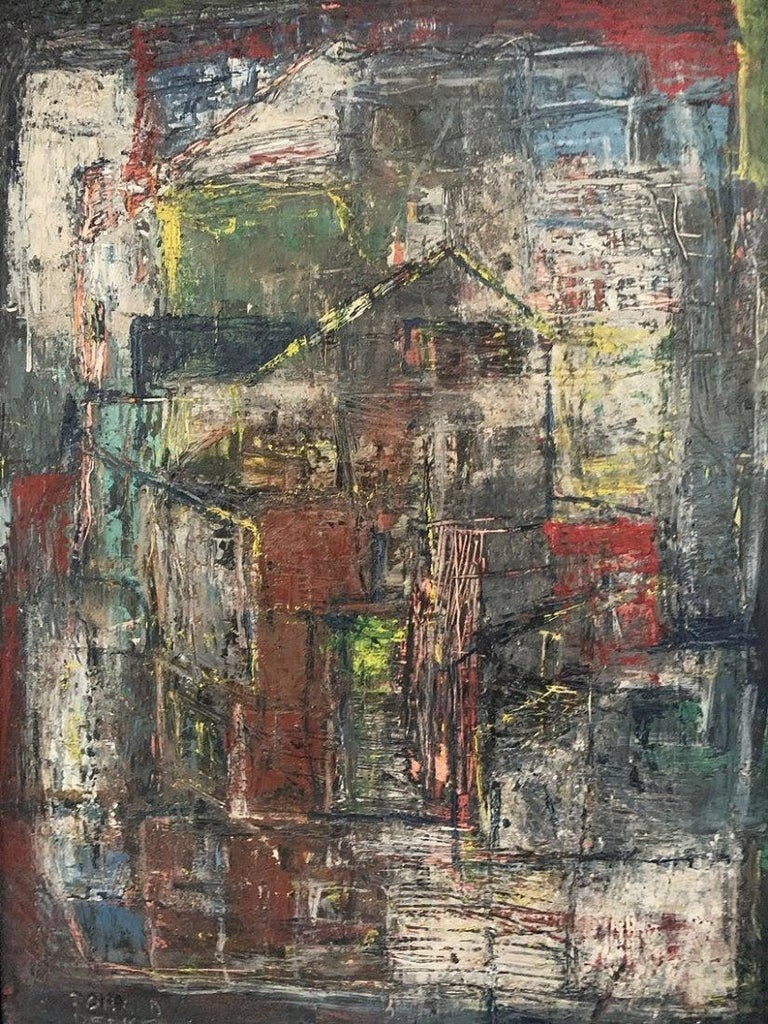 Donald Deskey Abstract Painting from The Deskey Estate For Sale 5