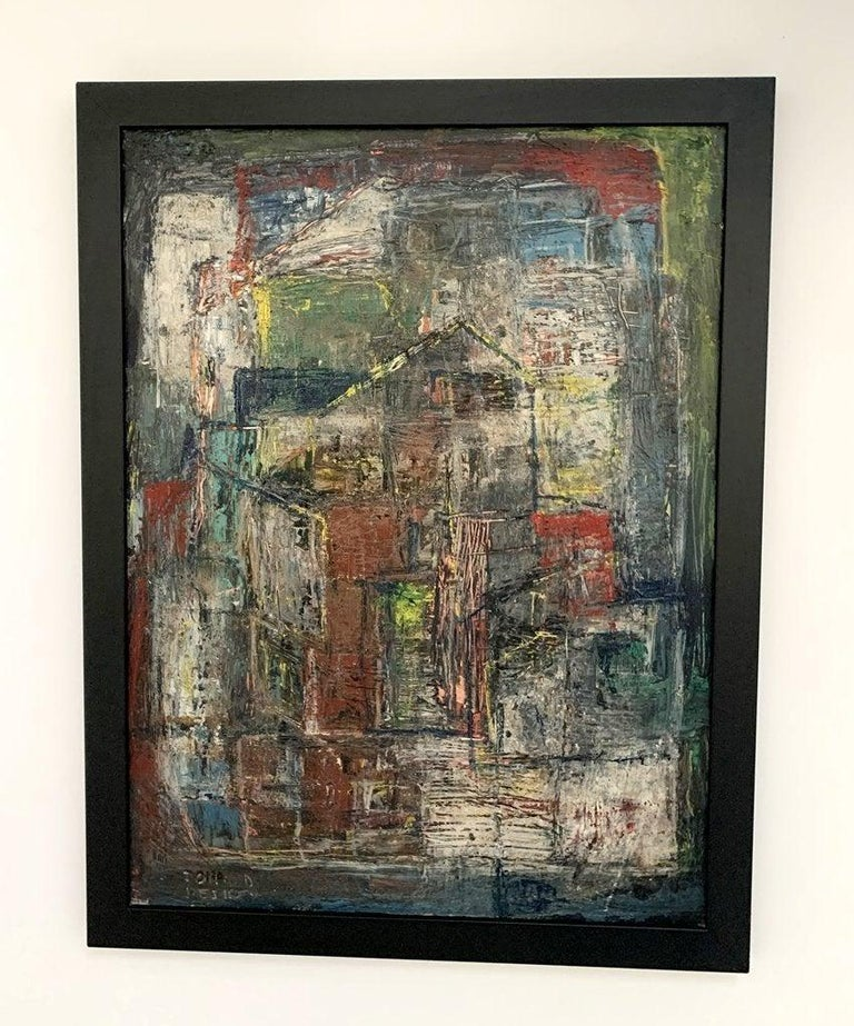 Donald Deskey Abstract Painting from The Deskey Estate For Sale 6