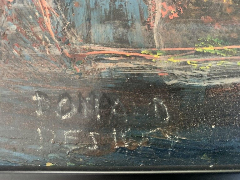 Donald Deskey Abstract Painting from The Deskey Estate In Good Condition For Sale In Los Angeles, CA