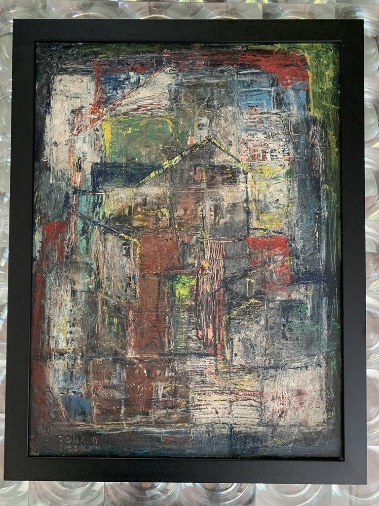 Mid-20th Century Donald Deskey Abstract Painting from The Deskey Estate For Sale