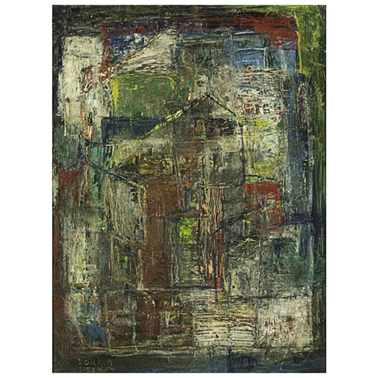 Donald Deskey Abstract Painting from The Deskey Estate For Sale