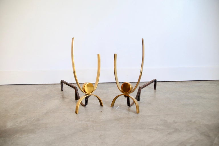 Mid-20th Century Donald Deskey Andirons For Sale