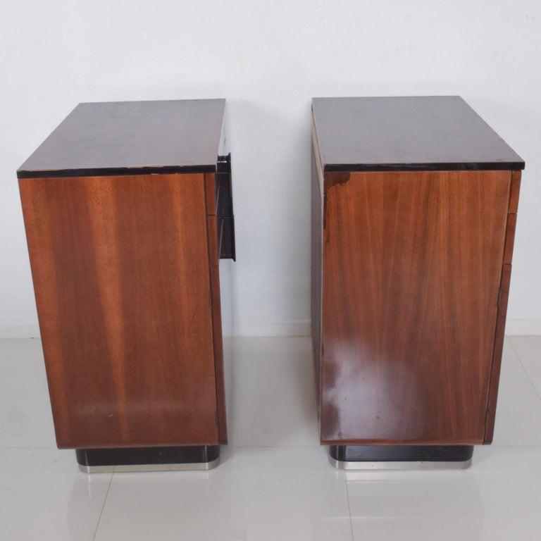 DONALD DESKEY  Dazzling Art Deco Industrial Design Cabinets Walnut & Black Gloss For Sale 1
