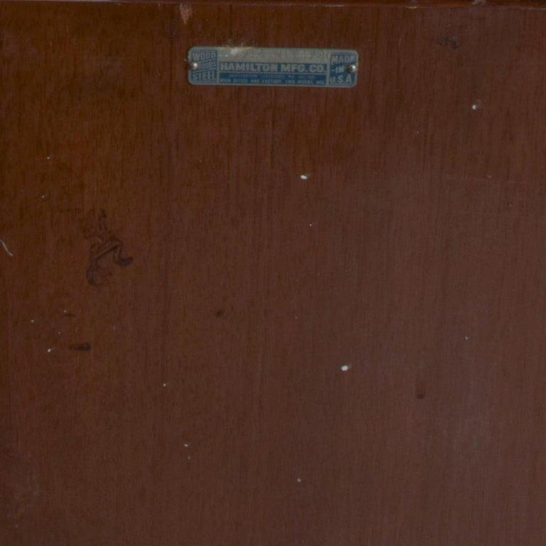 DONALD DESKEY  Dazzling Art Deco Industrial Design Cabinets Walnut & Black Gloss For Sale 2