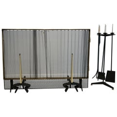 Donald Deskey Fireplace Set with Screen