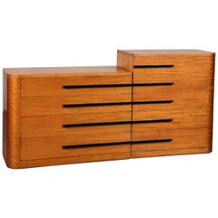 Donald Deskey for Widdicomb Satinwood Dresser, circa 1940