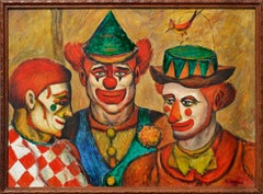Mid-Century Three Clowns by Jazz Man Don Hirleman