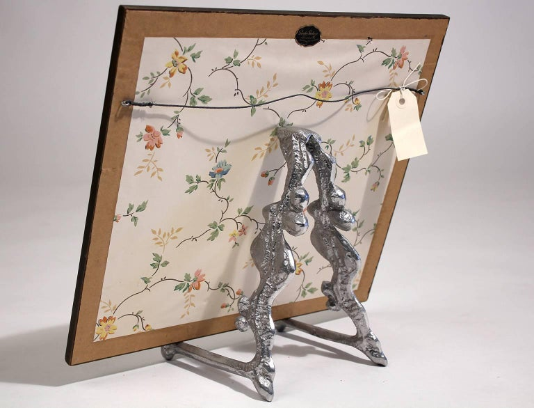 20th Century Donald Drumm Aluminium Sculptural Table Art Easel Picture or Plate Display Stand For Sale