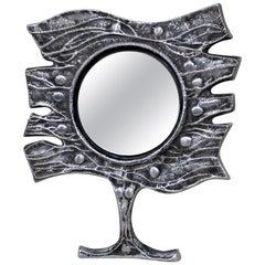 Donald Drumm Mid-Century Modern Brutalist Mirror