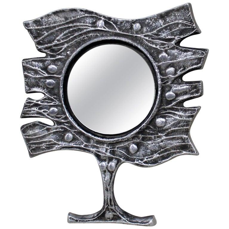 Donald Drumm Mid-Century Modern Brutalist Mirror For Sale