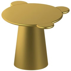 Contemporary Coffee Table Gold Donald Wood by Chapel Petrassi