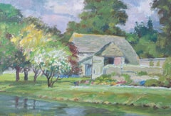 Donald Henry Floyd (1892-1965) - Mid 20th Century Oil, Cottage Garden In Summer