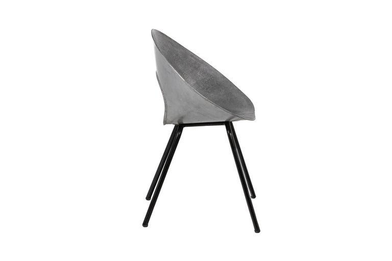 Galvanized Donald Knorr, Chair 132U in Metal, 1950's For Sale