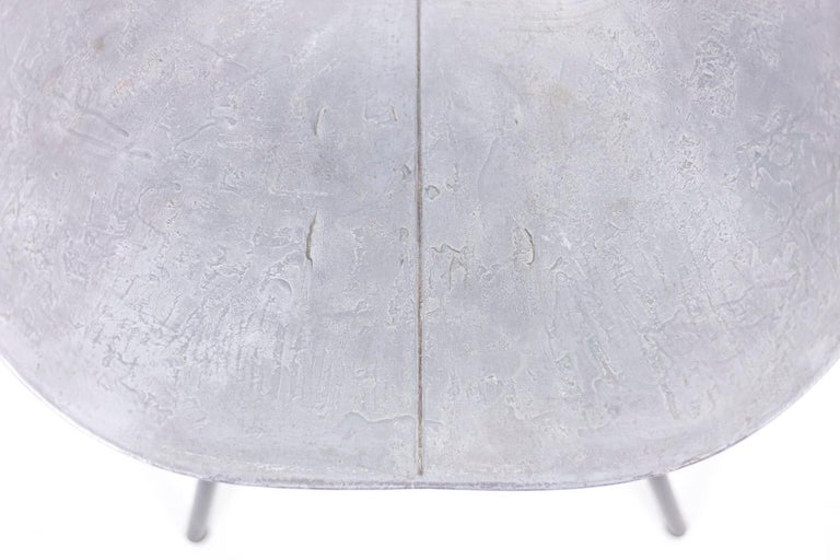 Donald Knorr, Chair 132U in Metal, 1950's In Distressed Condition For Sale In Saint-Ouen, FR
