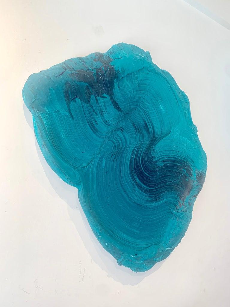 Strannik - Gray Abstract Painting by Donald Martiny