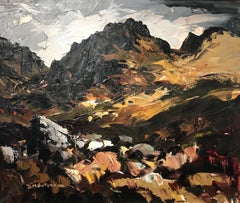 Modern British Landscape of Snowdonia, Wales  by Donald McIntyre 'Y'Garn'