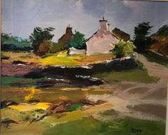 Modern British Landscape Scotland by Donald McIntyre 'Village Gwynedd'