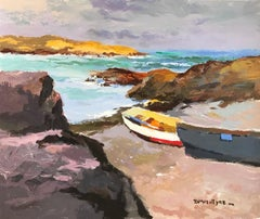 Modern British Seascape of Iona, Scotland by Donald McIntyre 'The Little Bay'