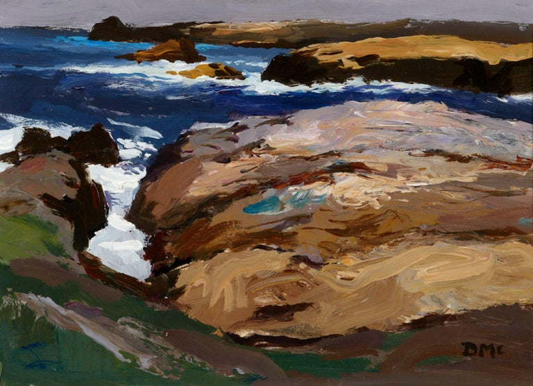 Rocky Coast No.3 - Painting by Donald McIntyre