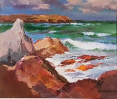 Scottish Seascape & Landscape Painting 'Sea Iona' by Donald McIntyre