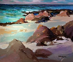 Sheltering Rocks - Acrylic Seascape painting by McIntyre