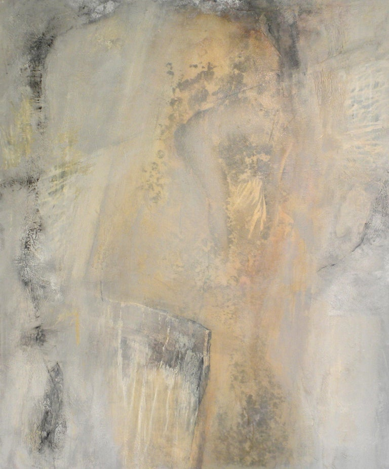 Donald McPartland Abstract Painting - Butalbital, Painting, Oil on Wood Panel