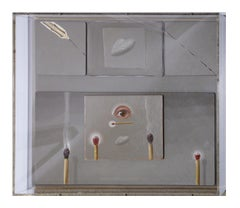 Abstract Surrealist Contemporary Still Life With Wooden Matches