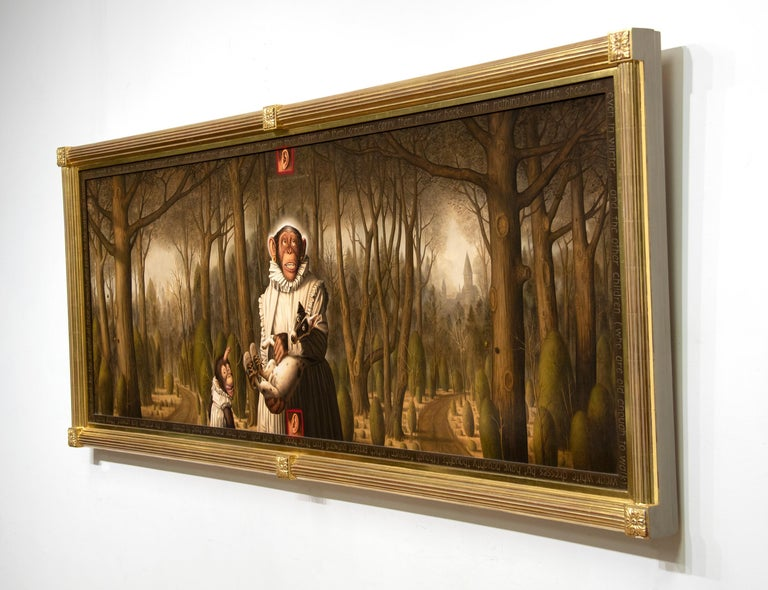 Looking For the Virgin in the Woods (What Is a Mother to Do With the Children Ac - Painting by Donald Roller Wilson